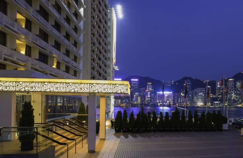 Exterior view of Marco Polo in Hong Kong.