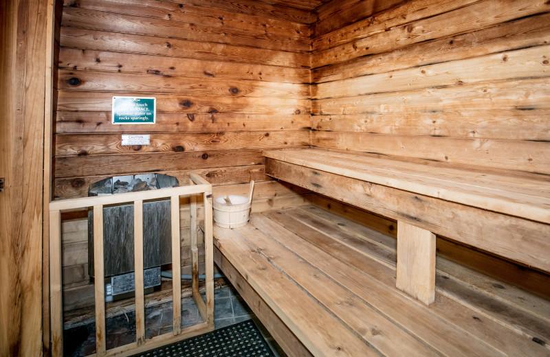Sauna at Glidden Lodge Beach Resort.