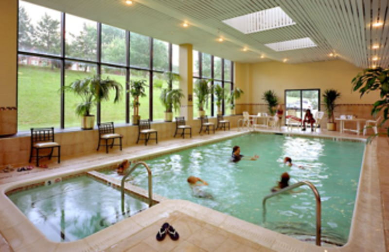 The heated indoor pool is open all year round at Best Western Baltimore.