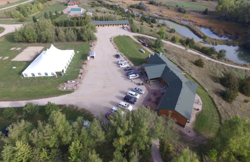 Aerial view of Granite Springs Lodge.