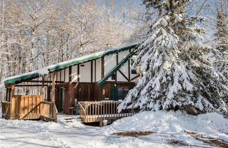 Cabin exterior at Big Powderhorn Lodging Association.