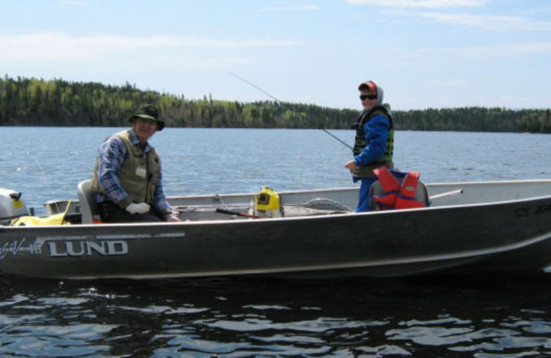 Fishing at Sydney Lake Lodge