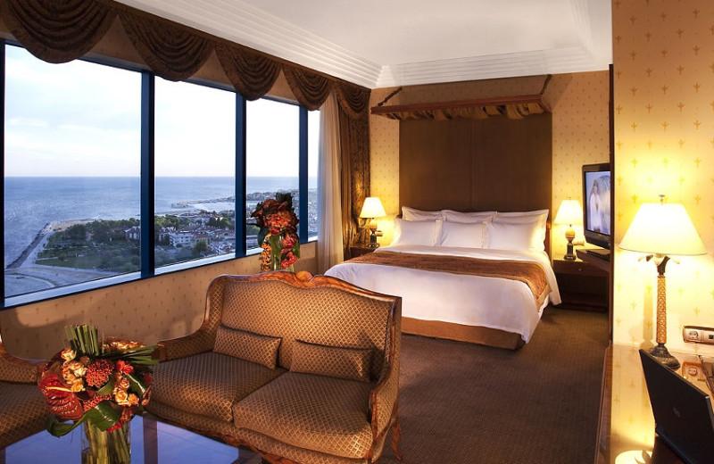 Guest room at Renaissance Polat Istanbul Hotel.