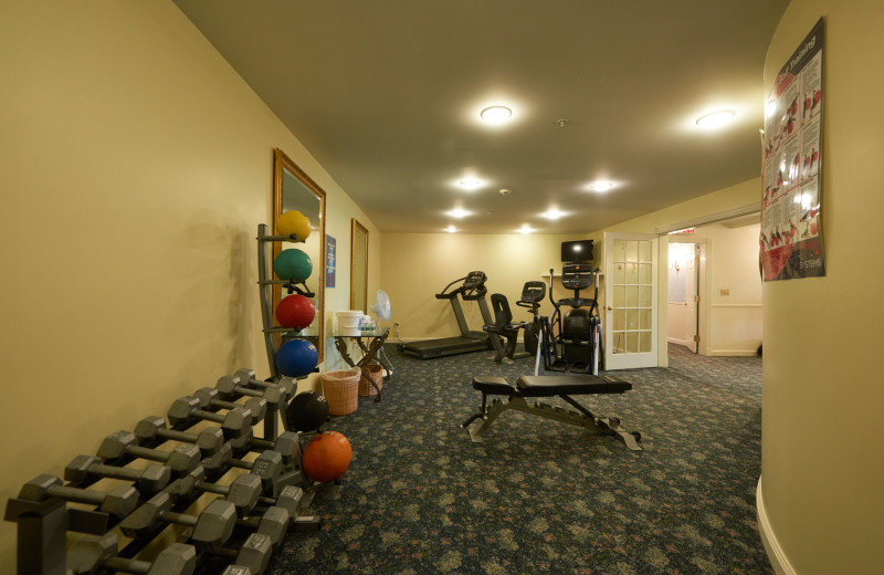 Fitness room at The Inn at Ocean's Edge.