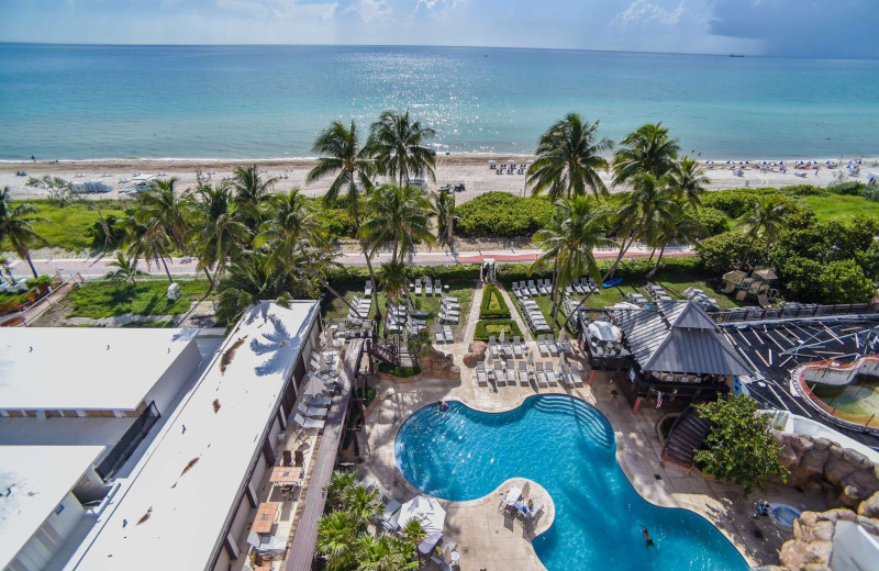 View from The Alexander All Suite Oceanfront Resort.