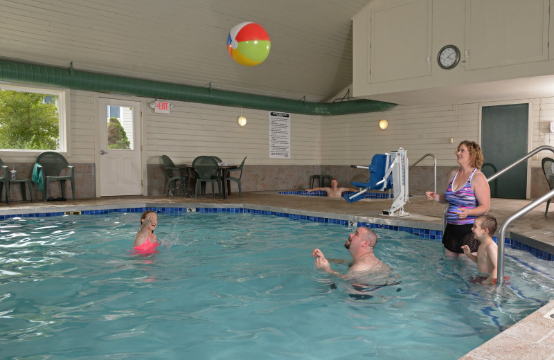 Indoor pool at Parkwood Lodge.