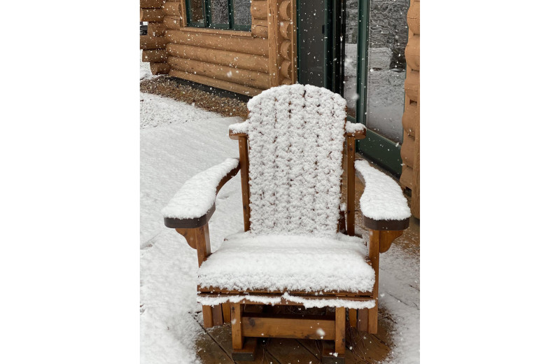 Cabin chair at Timber Trails Resort.