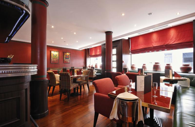 Dining at Hotel Royal Saint-Honoré.
