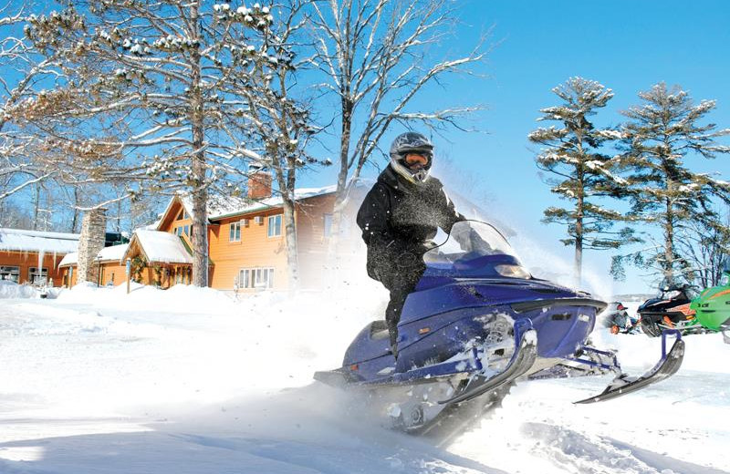 Snowmobiling at Big Sandy Lodge & Resort.