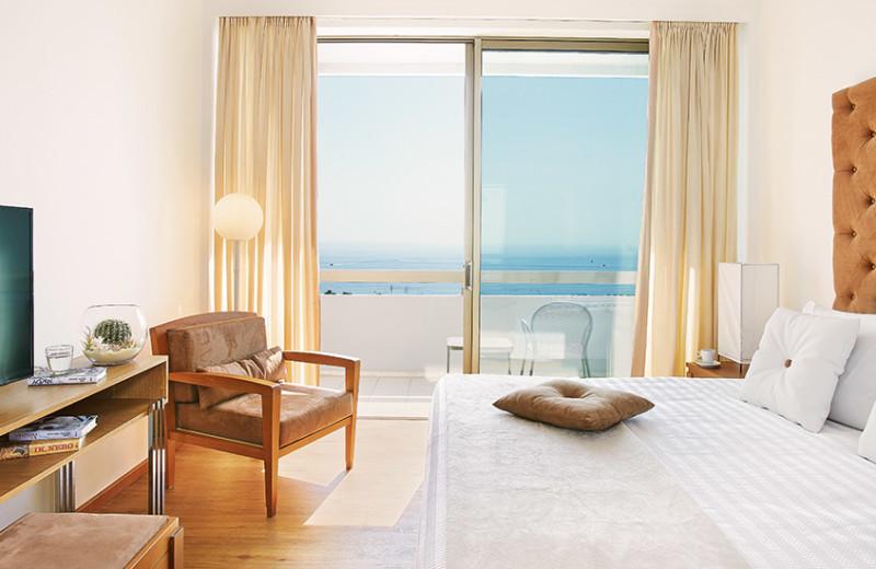 Guest room at Grecotel Rhodos Royal.