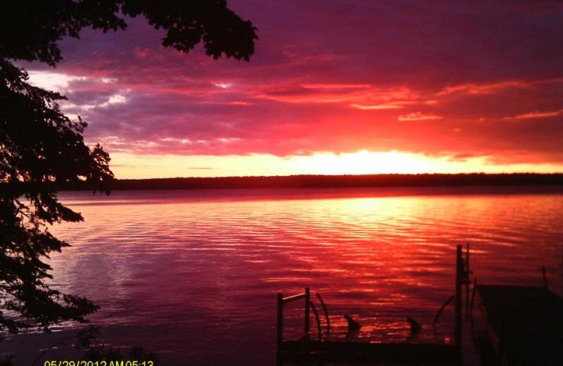 Sunset at Fishtales Resort.