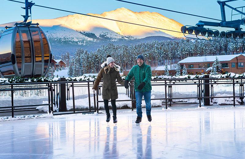 Ice skating at Grand Colorado on Peak 8.