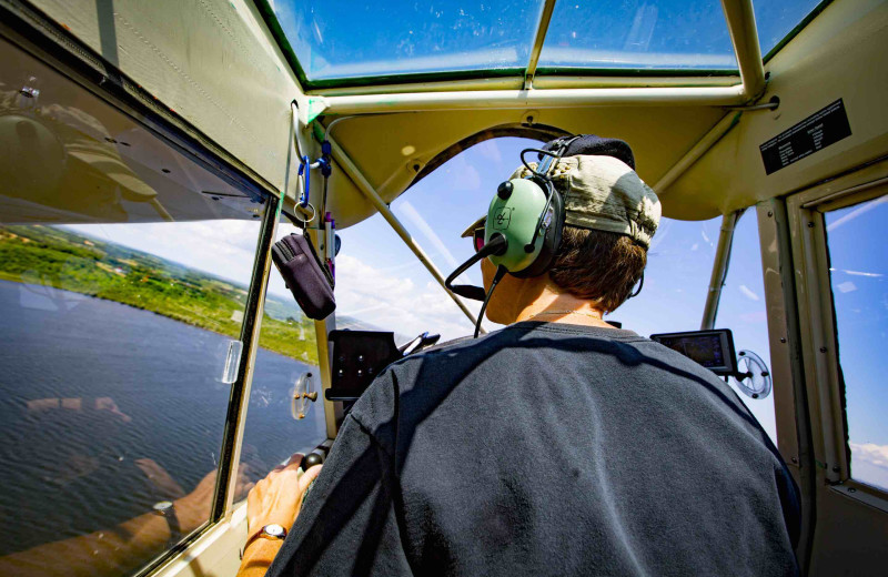 Sightseeing flights are available.