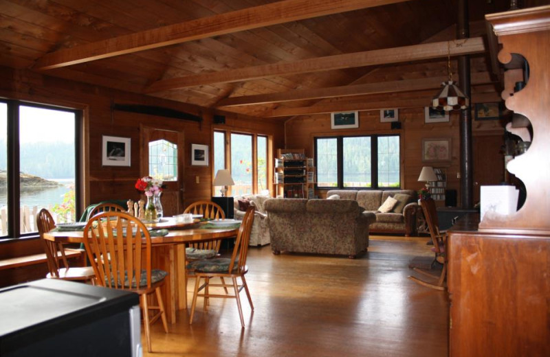 Lodge interior at Blackfish Lodge.
