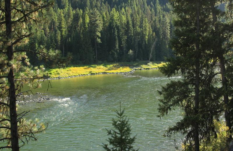 Scenic view at Clark Fork River Lodge.