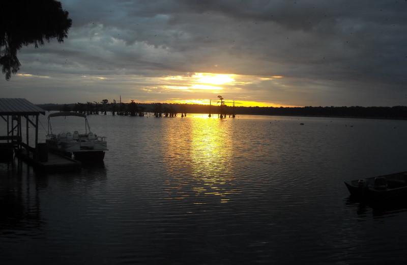 Lake view at Reelfoot Lake Sportsman's Resort.