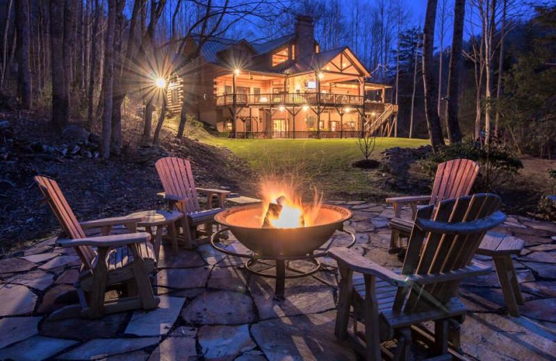 Bonfire at The Lodge at River Run.