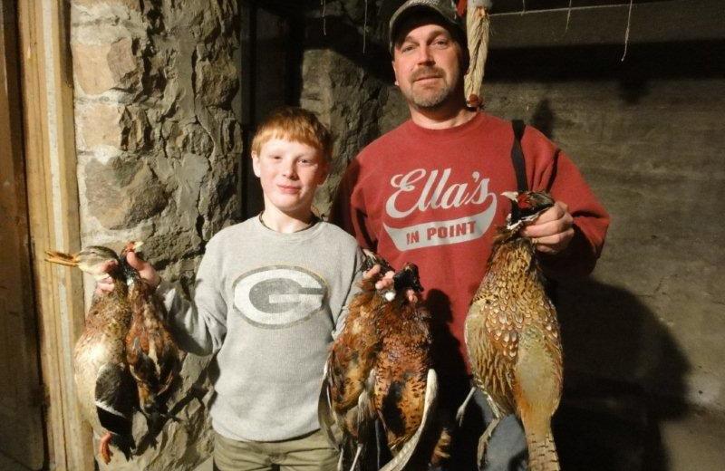 Hunting at Betty's Hunting Lodge.