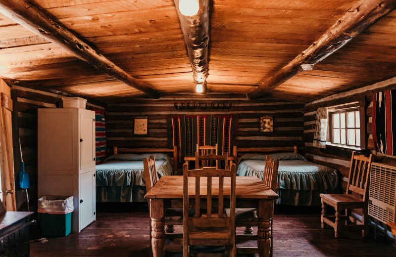 Cabin 10 interior at Trappers Lake Lodge & Resort.