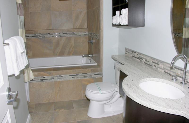 Guest bathroom at Alouette Beach Resort.