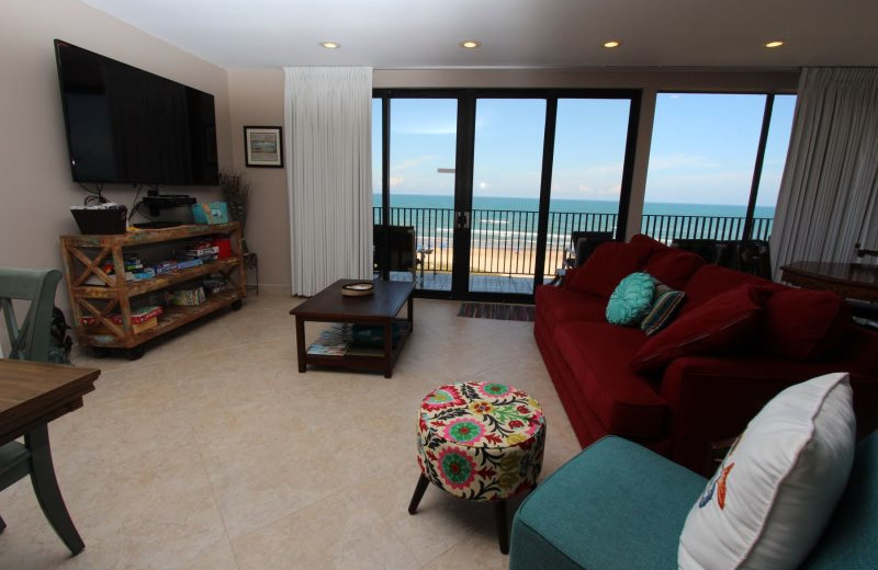Rental living room at Seabreeze 1.