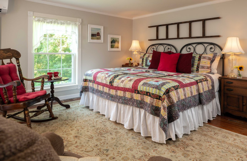 Guest room at Orchard House Bed & Breakfast.