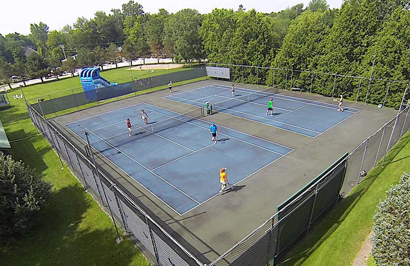 Tennis court at Tyler Place Family Resort.