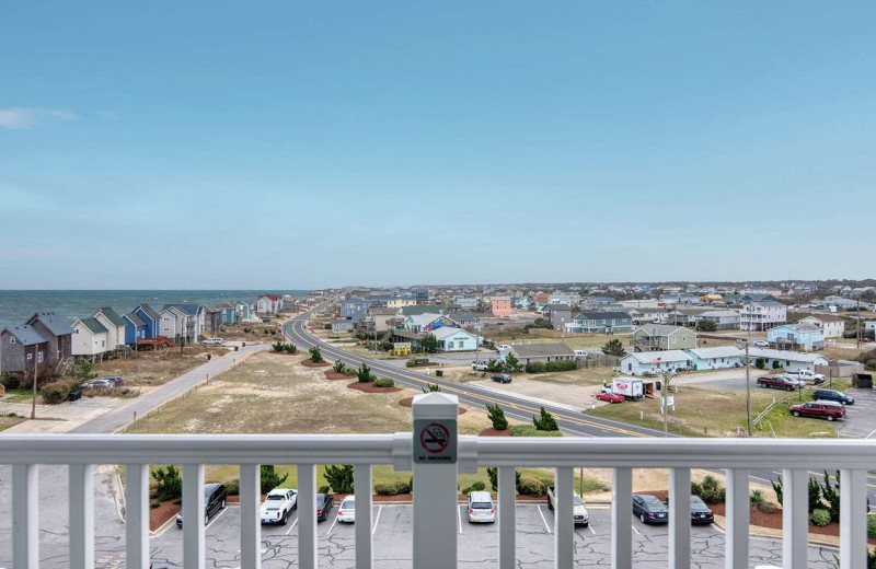 Guest balcony view at Hilton Garden Inn Outer Banks/Kitty Hawk.