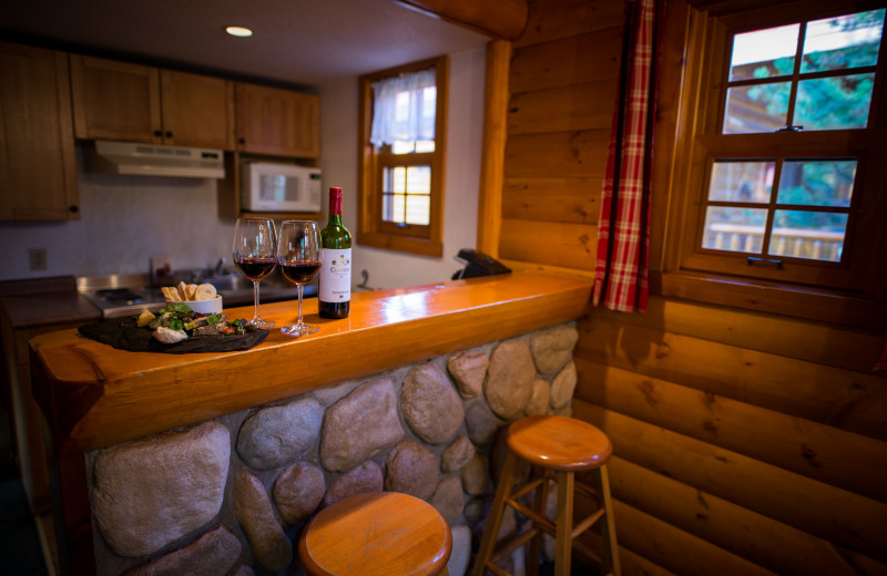 Cabin kitchen at Baker Creek Mountain Resort.