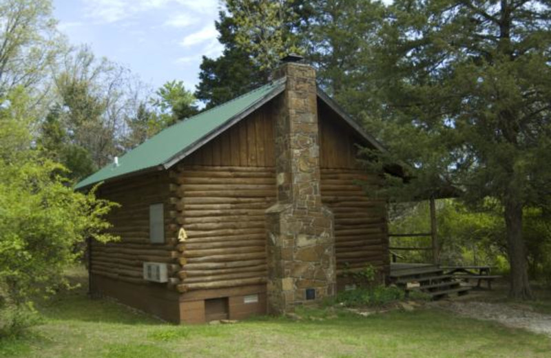 Cabin exterior at Buffalo River Outfitters.