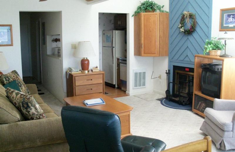 Vacation rental living room at Sugar Ski and Country Club.