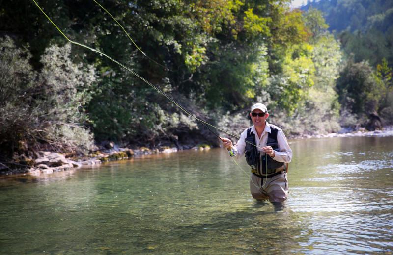 Fishing at Pocono Mountain Rentals.