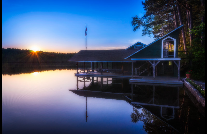 Boathouse at White Pine Camp.
