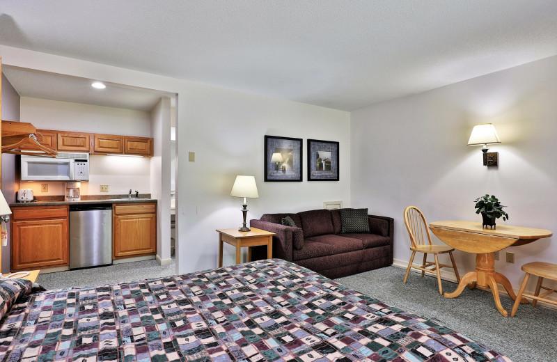 Rental guest room at Killington Rental Associates.