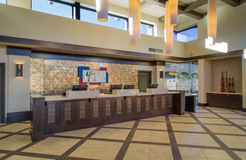 Front desk at Holiday Inn Club Vacations Scottsdale Resort.