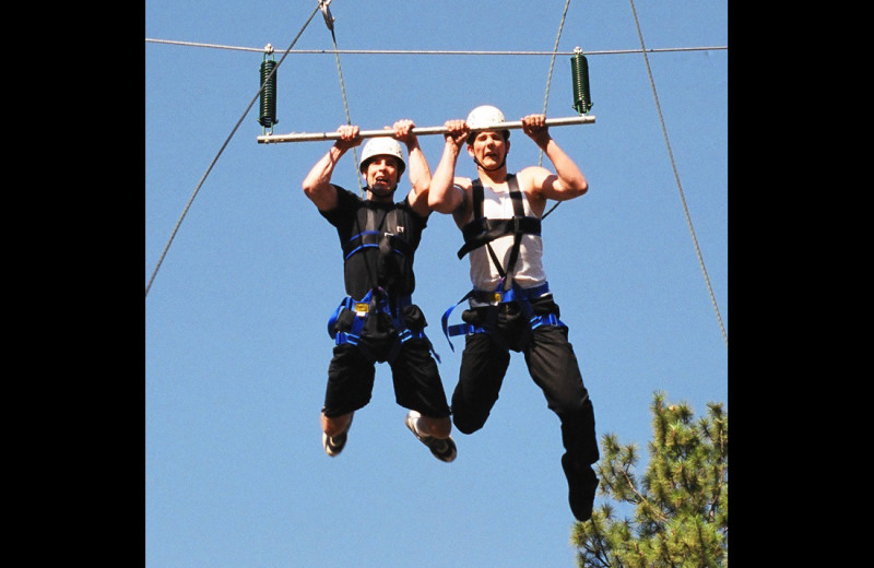 Zip line at RockRidge Canyon Camp & Conference Center.