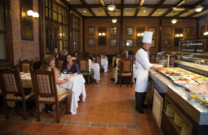 Dining at Hotel Riu Palace Aruba.