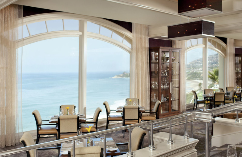 Dining at The Ritz-Carlton, Laguna Niguel.