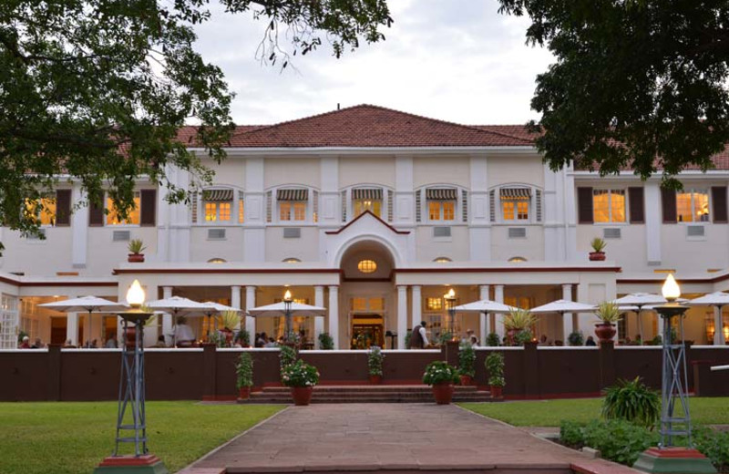 Exterior view of The Victoria Falls Hotel.