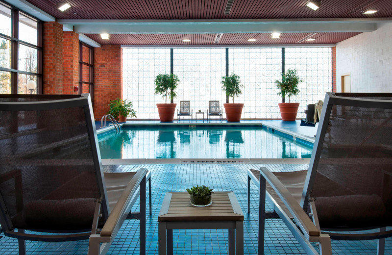 Indoor pool at Albany Marriott.