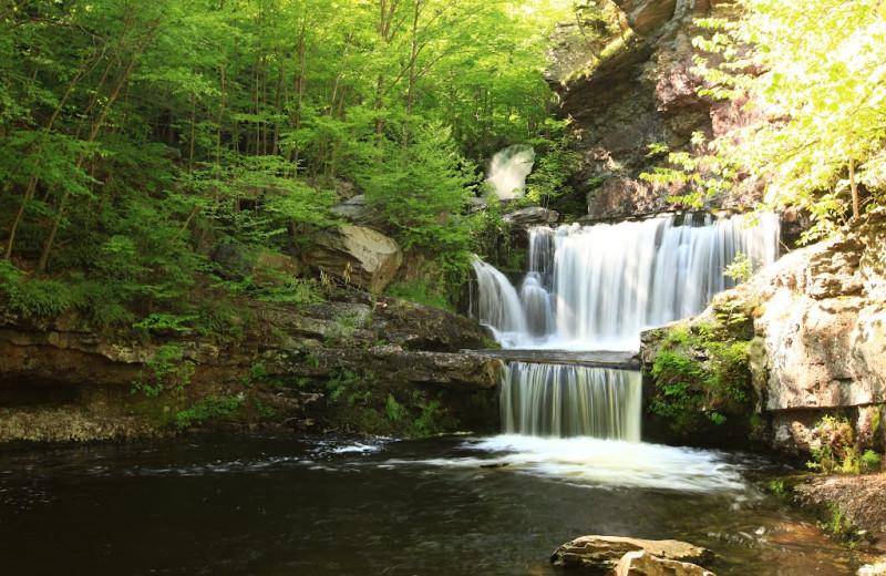 Waterfall at Skytop Lodge.