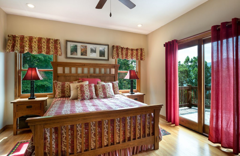 Rental bedroom at Premier Vacation Rentals.