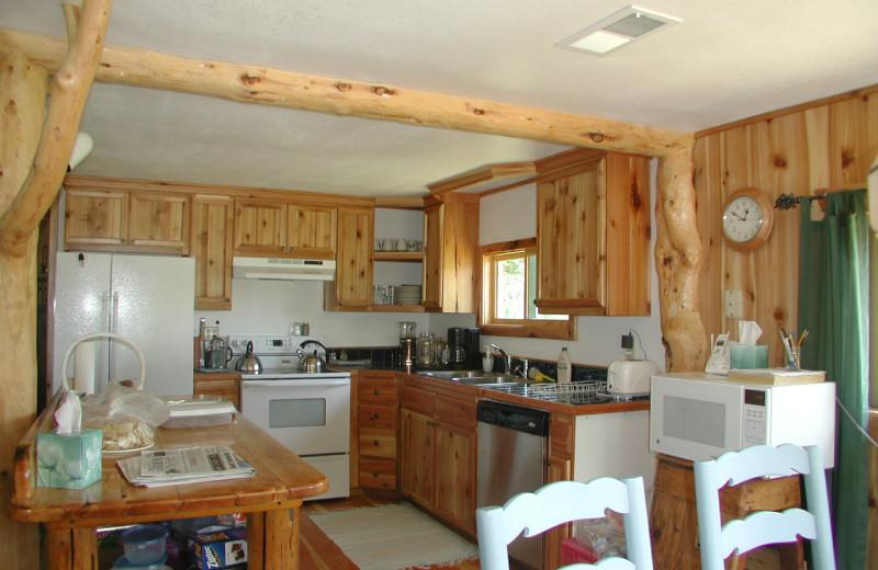 Ranch House kitchen at Rising Wolf Ranch.