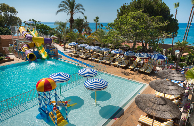 Outdoor pool at Amathus Beach Hotel.