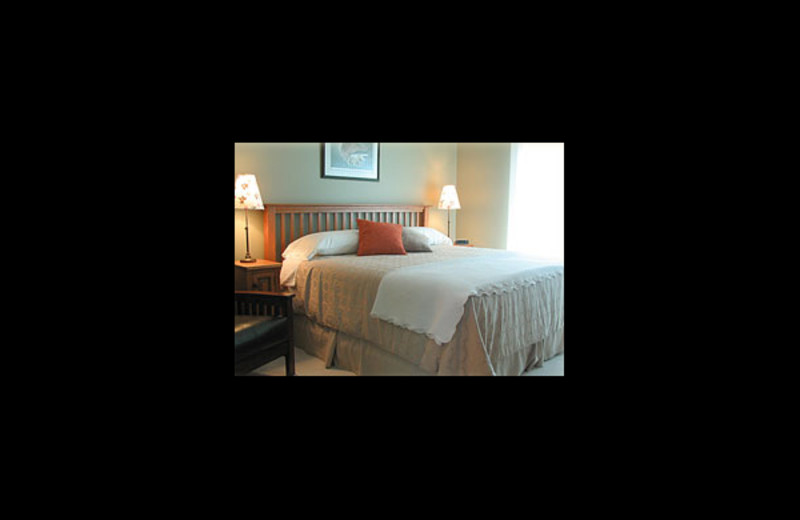 Guest room at The Poplar Inn.