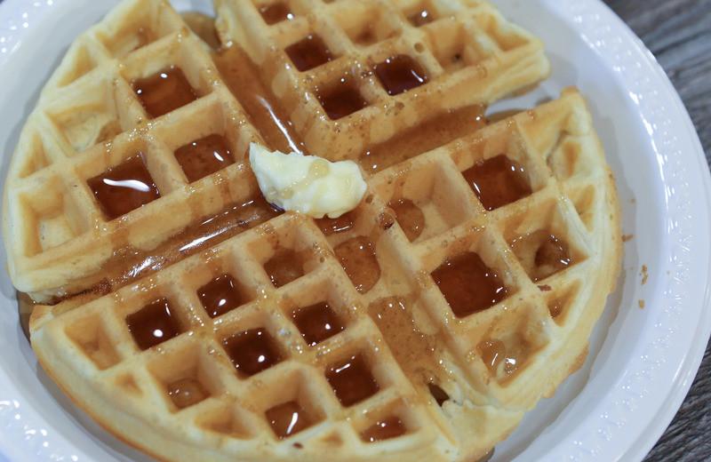 Breakfast waffle at GrandStay Perham.