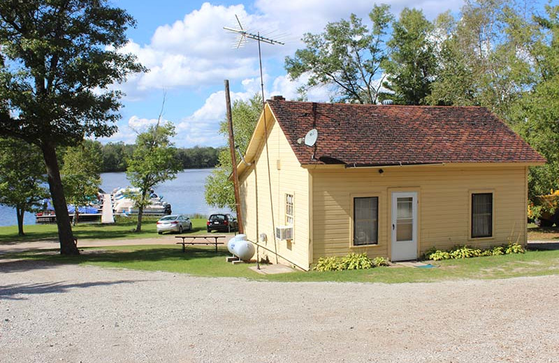 Cottage exterior at Popp's Resort.