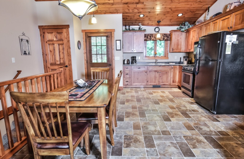 Cabin kitchen at Hampel Properties.