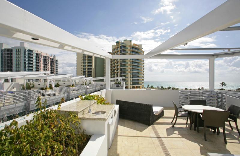 Patio view at Z Ocean Hotel.