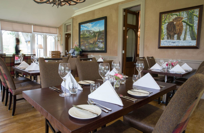 Dining at Muckrach Lodge Hotel and Restaurant.